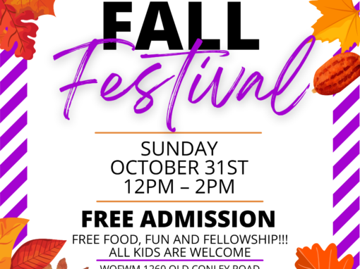 Community-wide Fall Festival!